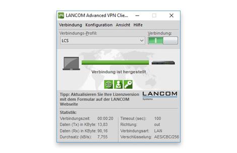 LANCOM Advanced VPN Client Windows Upgrade 3.1 auf 5.20