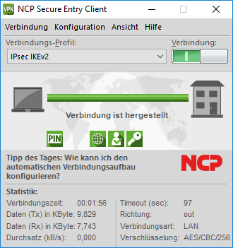 NCP Secure Entry Windows Client Update Staffelpreis ab 25 Lizenzen