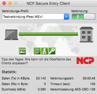 NCP Secure Entry Client MacOS Vollversion Staffelpreis ab 10 Lizenzen